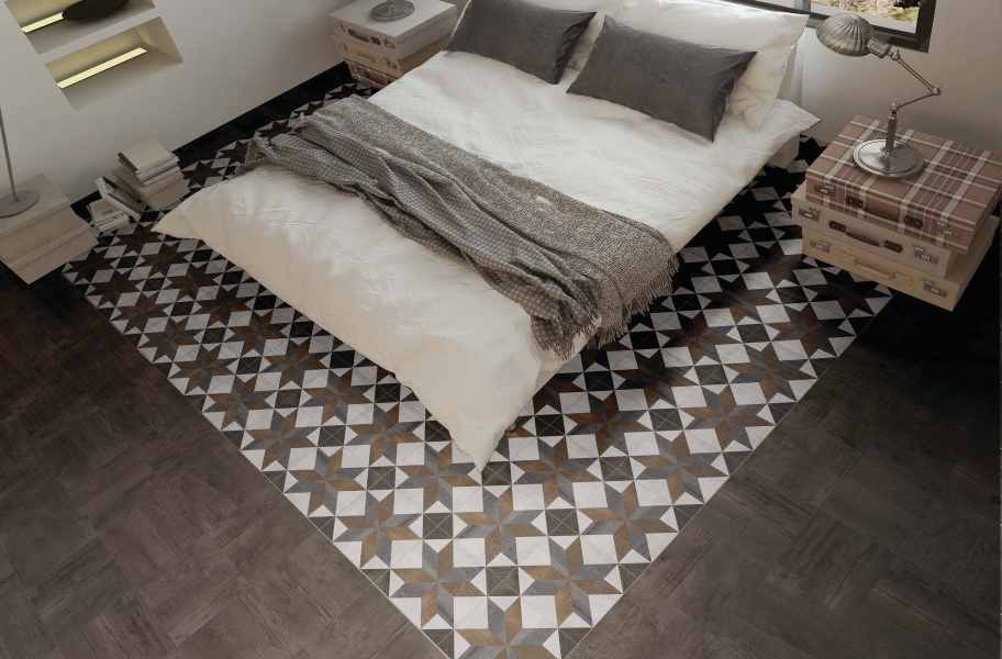 Bedroom Flooring Pattern and Layout Trends: Daltile Choreo