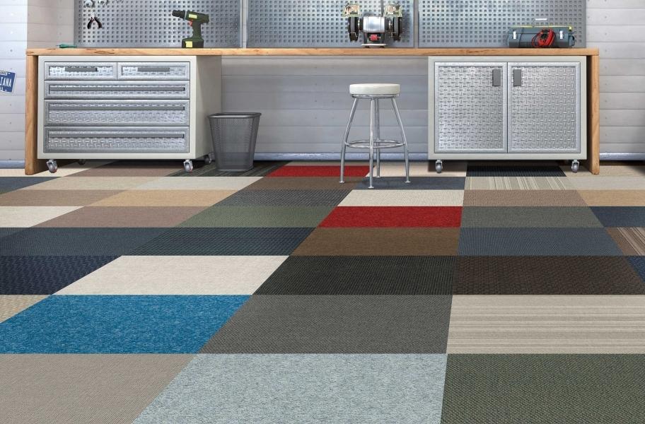 Retro Carpet Tiles and Planks: Infinite Carpet Tiles